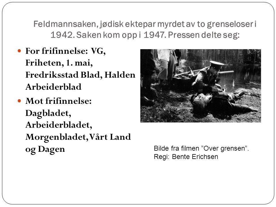 Feldmannsaken, jødisk ektepar myrdet av to grenseloser i 1942