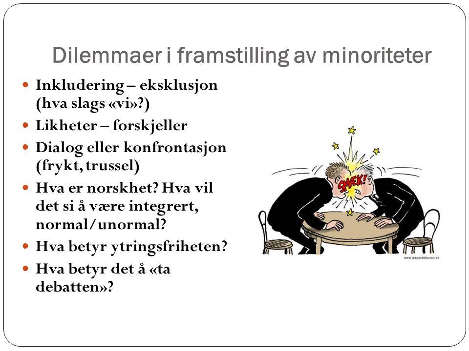 Dilemmaer i framstilling av minoriteter