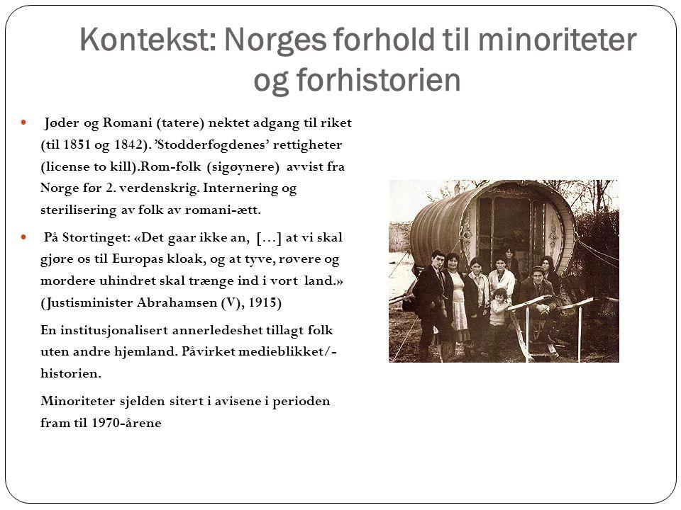 Kontekst: Norges forhold til minoriteter og forhistorien