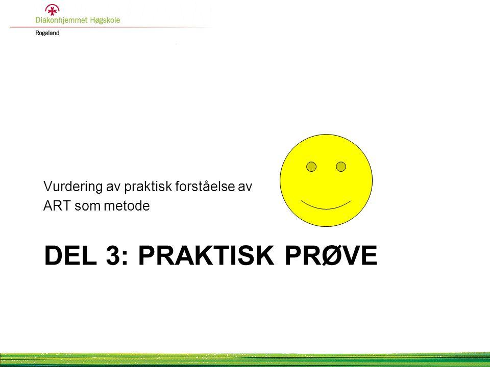 Del 3: pRaktisk prøve Vurdering av praktisk forståelse av