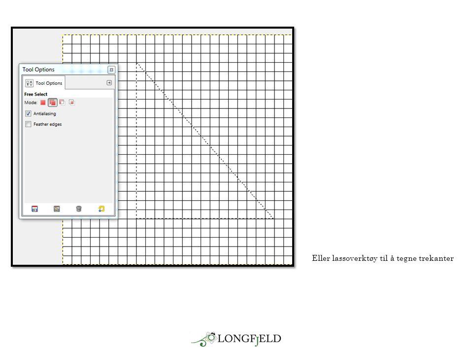 Eller lassoverktøy til å tegne trekanter
