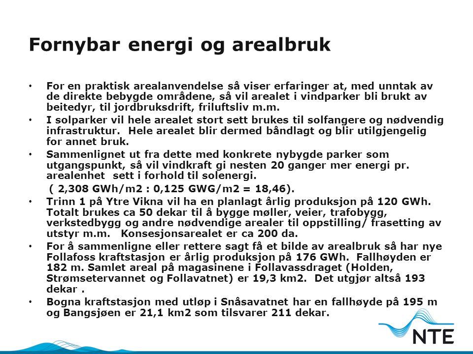 Fornybar energi og arealbruk