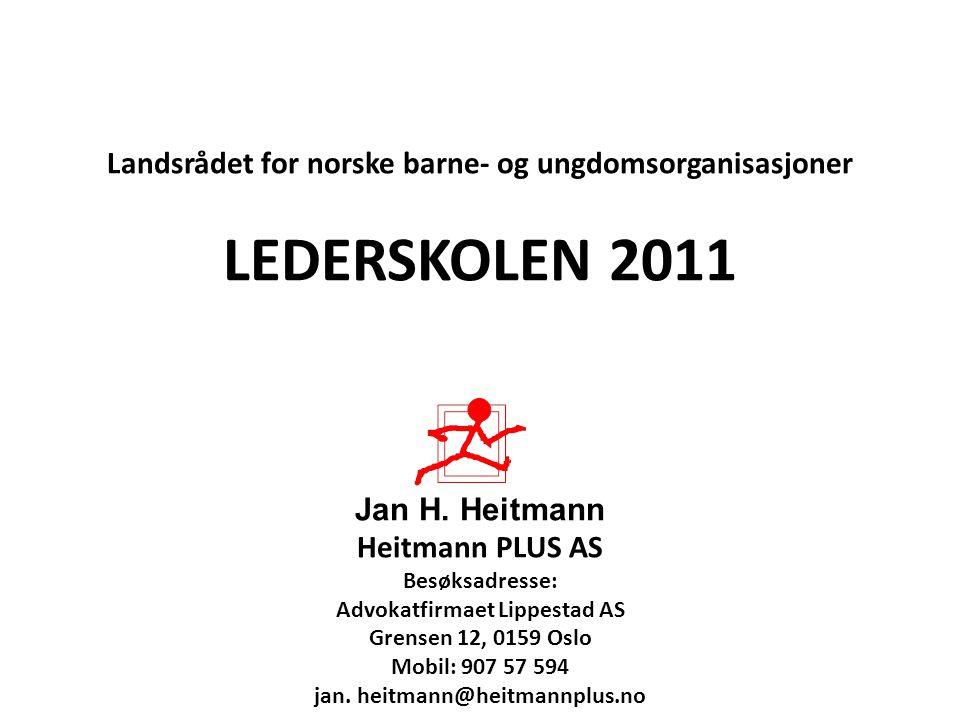 LEDERSKOLEN 2011 Landsrådet for norske barne- og ungdomsorganisasjoner