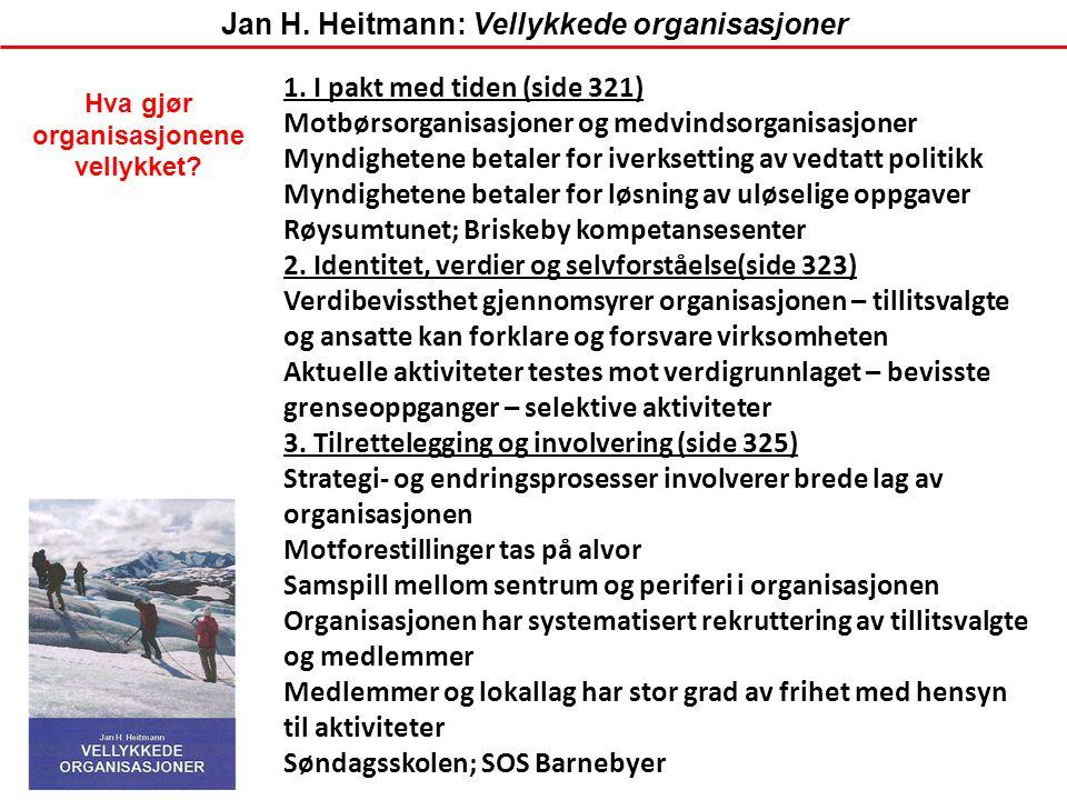 Jan H. Heitmann: Vellykkede organisasjoner