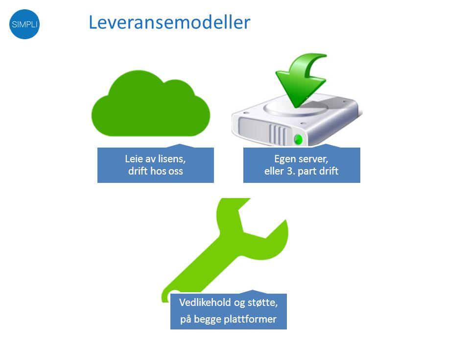 Leveransemodeller Fri lisens for nye versjoner og forbedringer