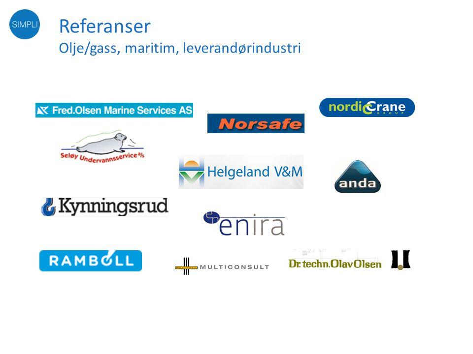Referanser Olje/gass, maritim, leverandørindustri