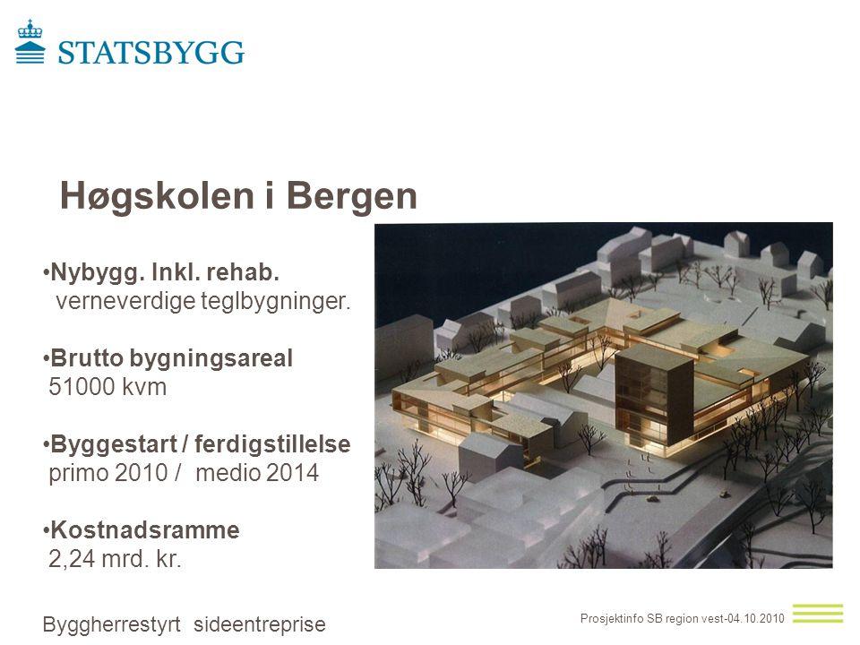 Høgskolen i Bergen Nybygg. Inkl. rehab. verneverdige teglbygninger.