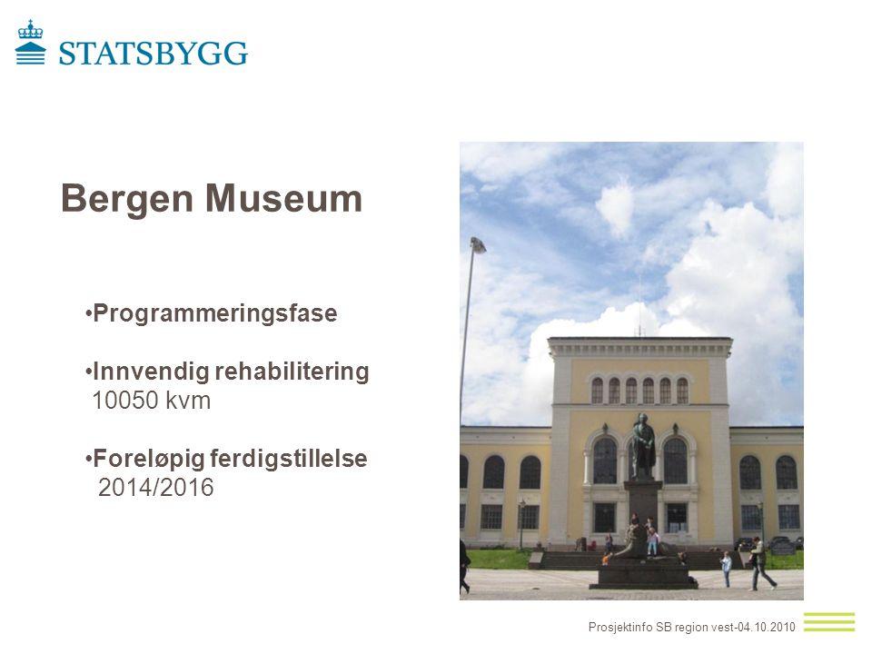 Bergen Museum Programmeringsfase Innvendig rehabilitering 10050 kvm