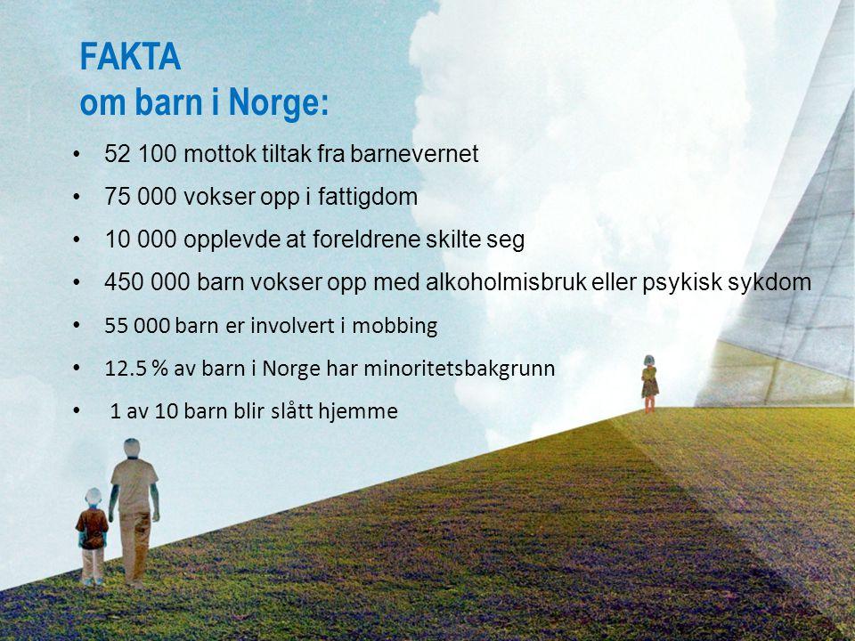 FAKTA om barn i Norge: 52 100 mottok tiltak fra barnevernet