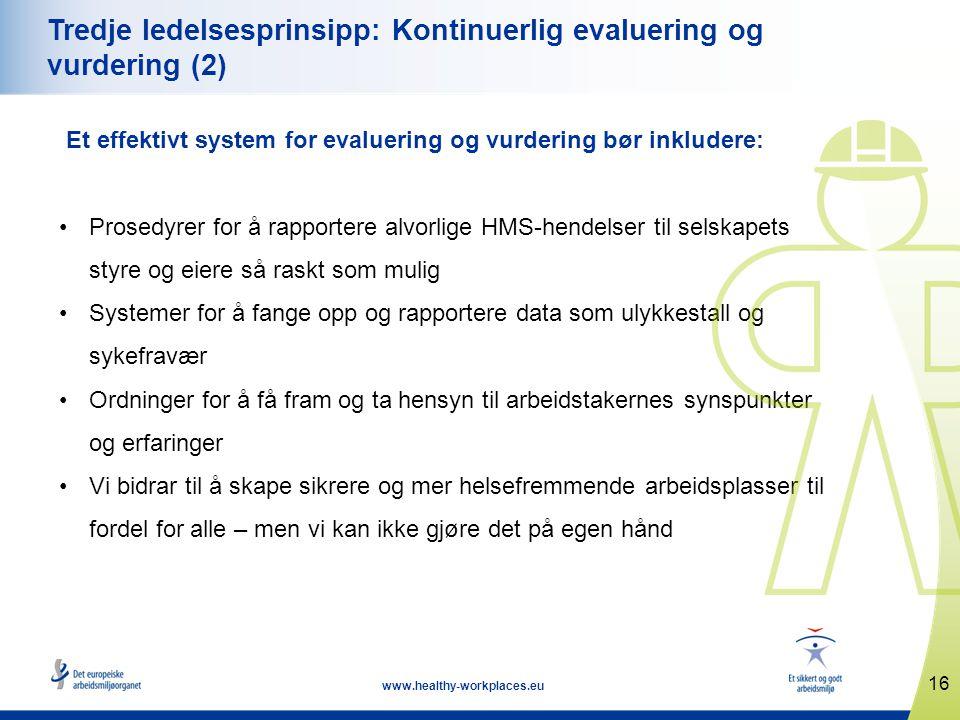 Tredje ledelsesprinsipp: Kontinuerlig evaluering og vurdering (2)