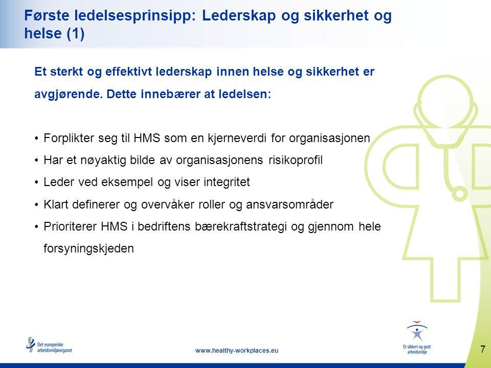 Første ledelsesprinsipp: Lederskap og sikkerhet og helse (1)