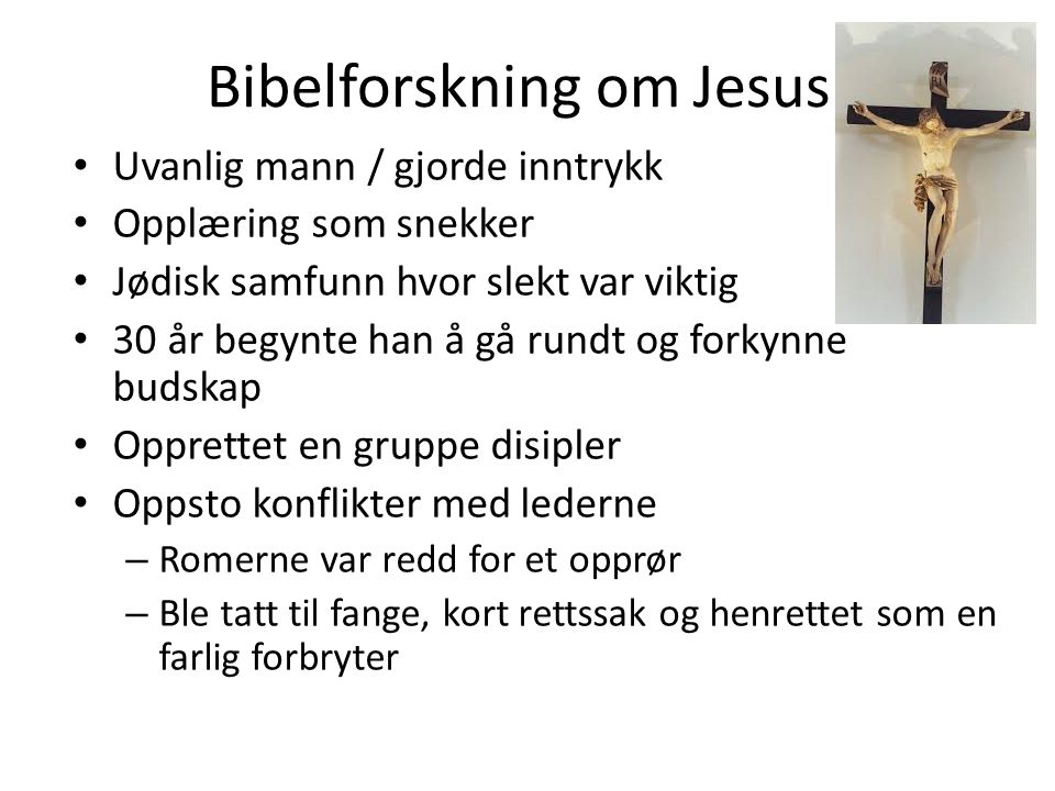 Bibelforskning om Jesus