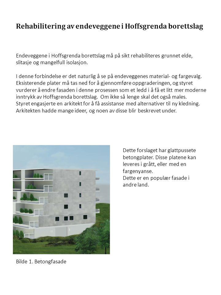 Rehabilitering av endeveggene i Hoffsgrenda borettslag