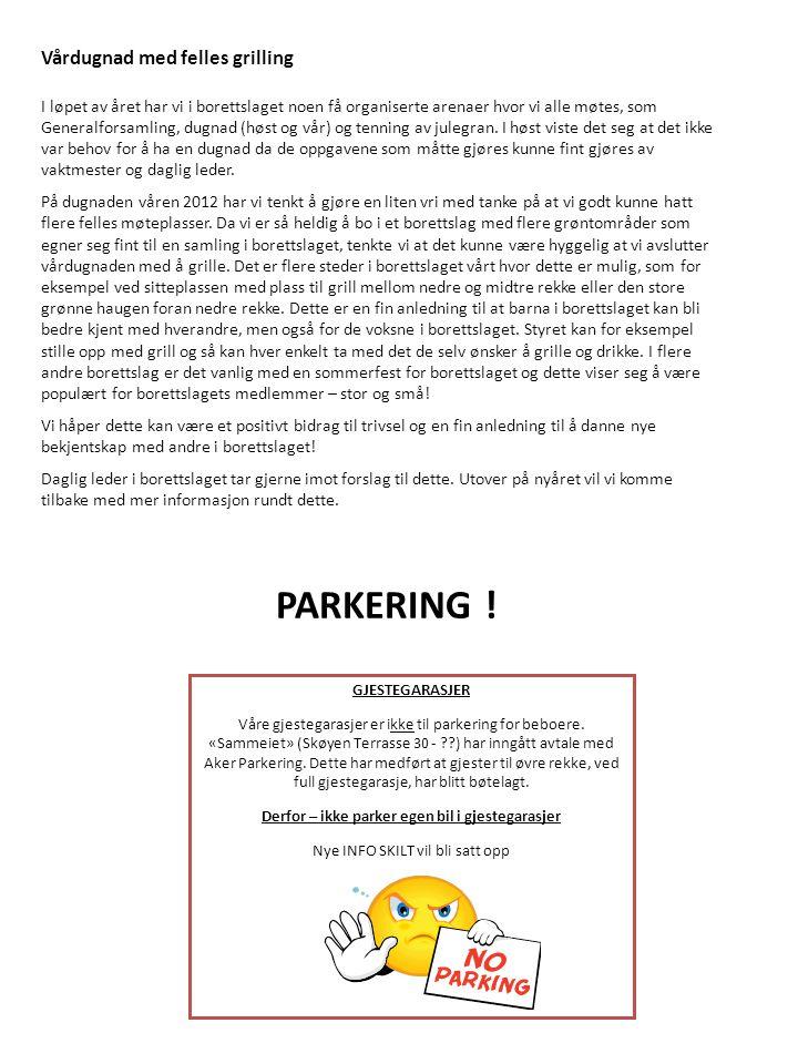 Derfor – ikke parker egen bil i gjestegarasjer