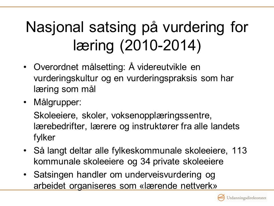 Nasjonal satsing på vurdering for læring (2010-2014)