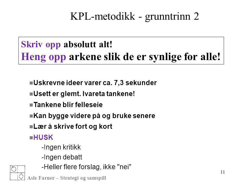 KPL-metodikk - grunntrinn 2