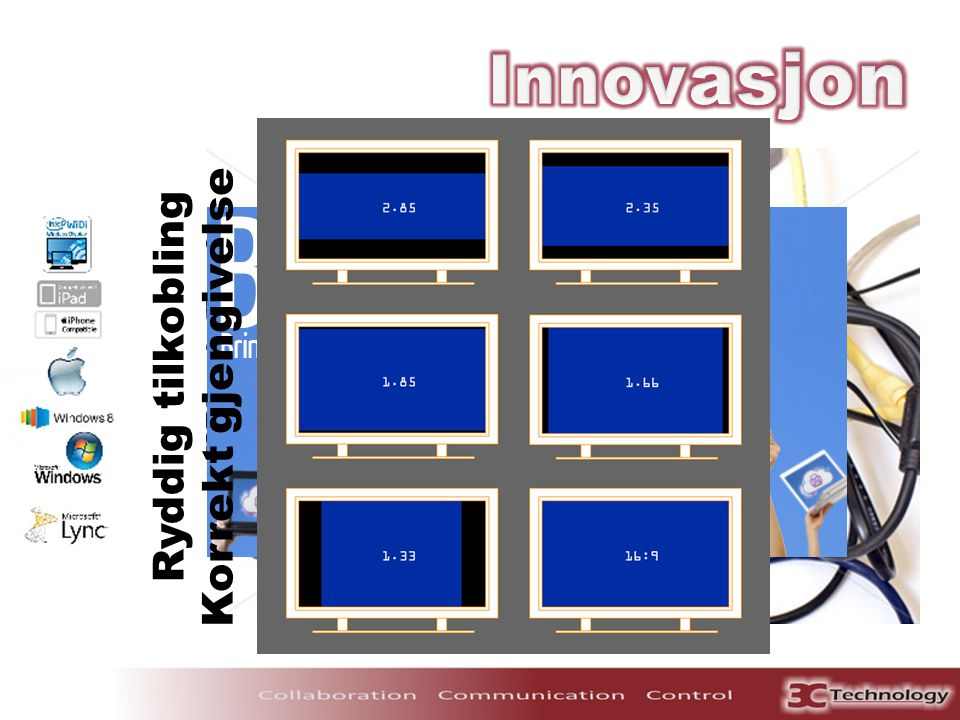 Innovasjon Korrekt gjengivelse Ryddig tilkobling