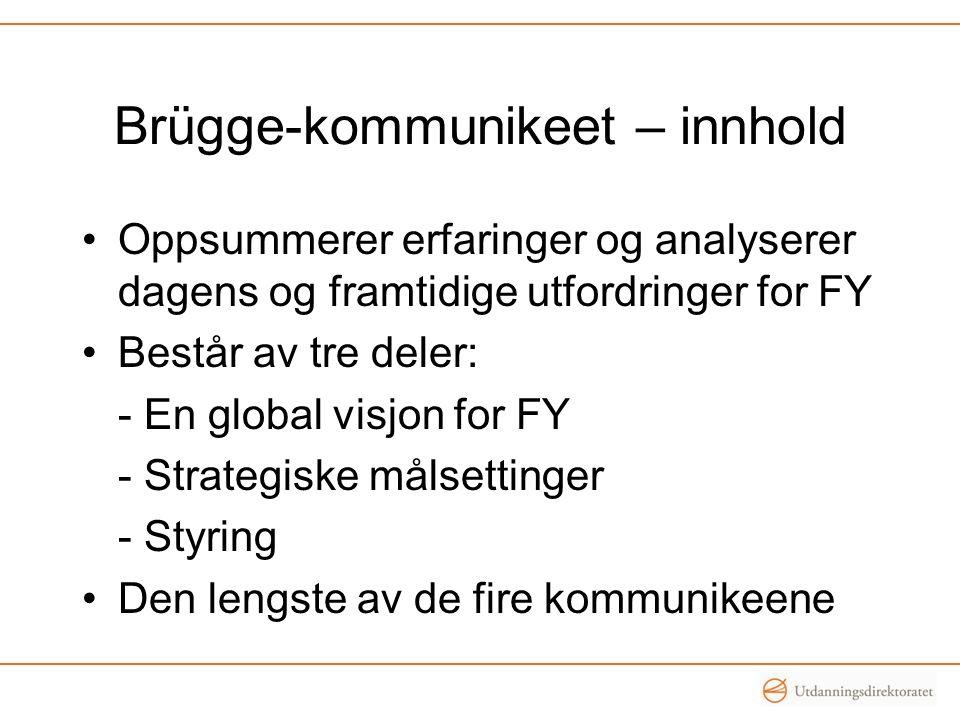 Brügge-kommunikeet – innhold