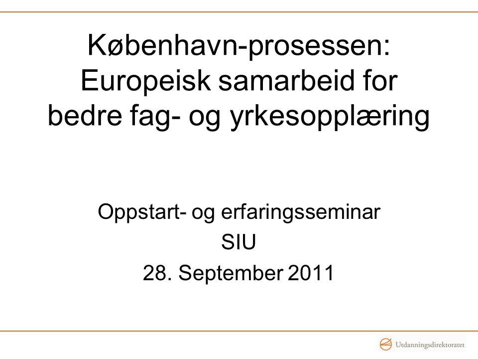 Oppstart- og erfaringsseminar SIU 28. September 2011