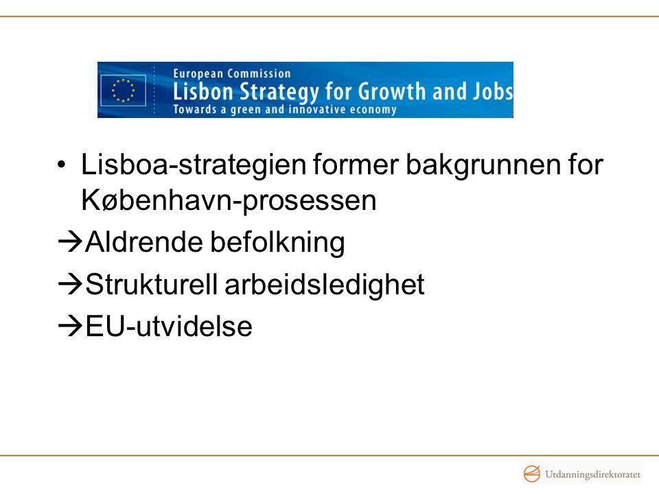 Lisboa-strategien former bakgrunnen for København-prosessen