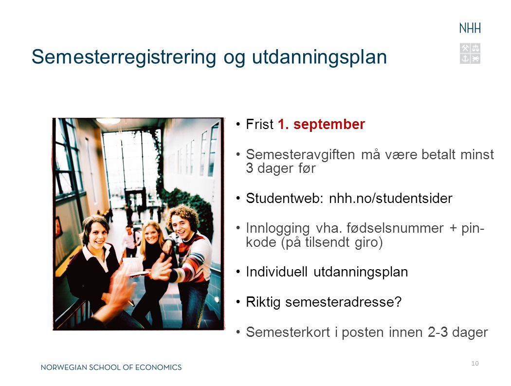 Semesterregistrering og utdanningsplan