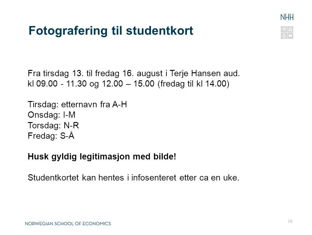 Fotografering til studentkort
