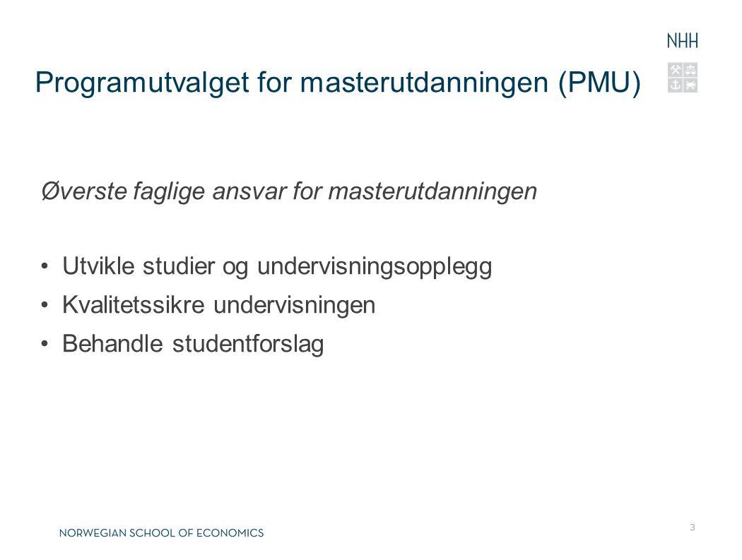 Programutvalget for masterutdanningen (PMU)