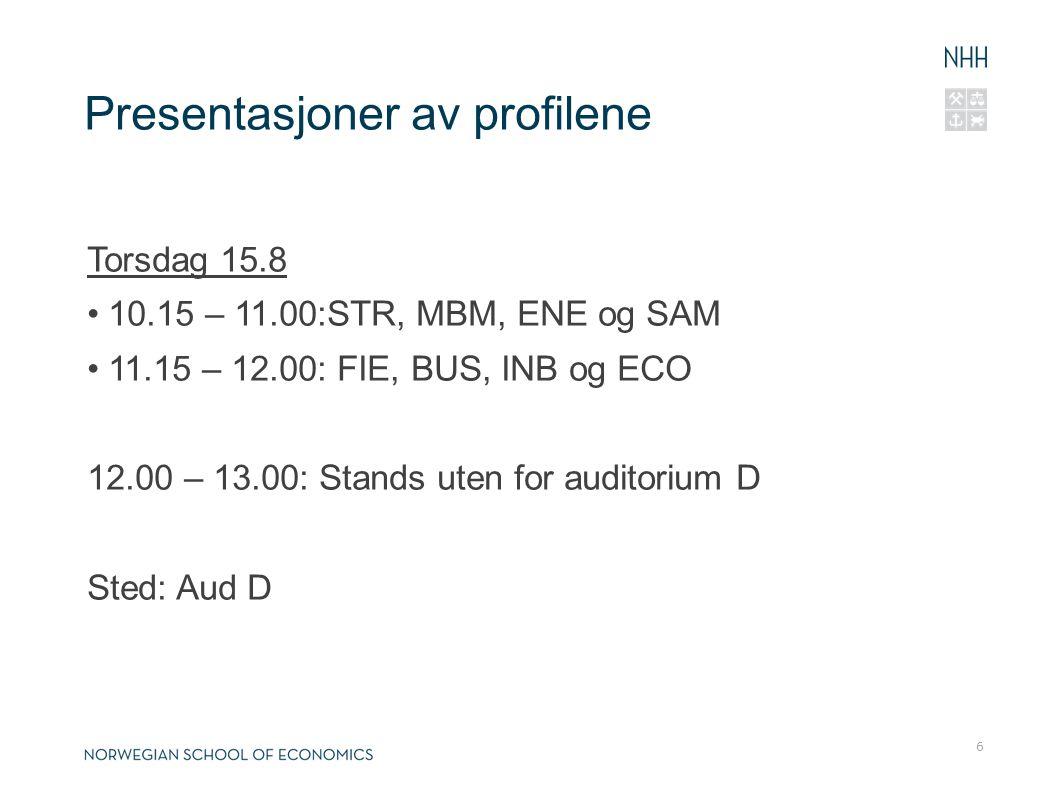 Presentasjoner av profilene
