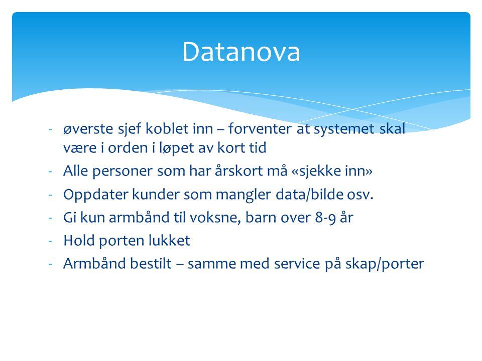 Datanova øverste sjef koblet inn – forventer at systemet skal være i orden i løpet av kort tid. Alle personer som har årskort må «sjekke inn»