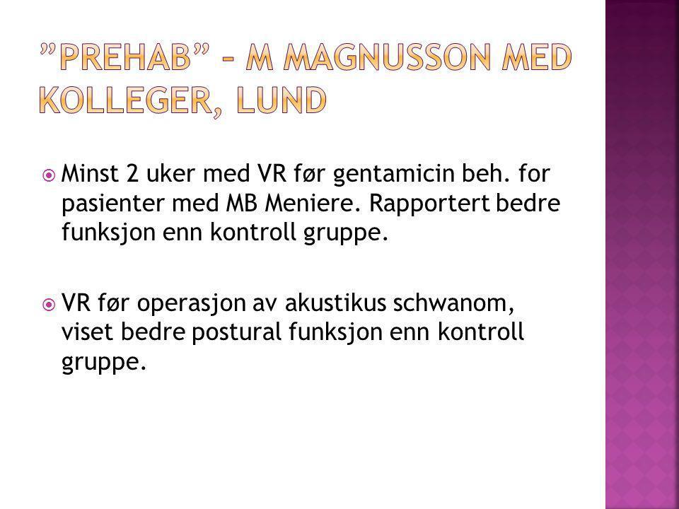 PREHAB – M Magnusson med kolleger, Lund