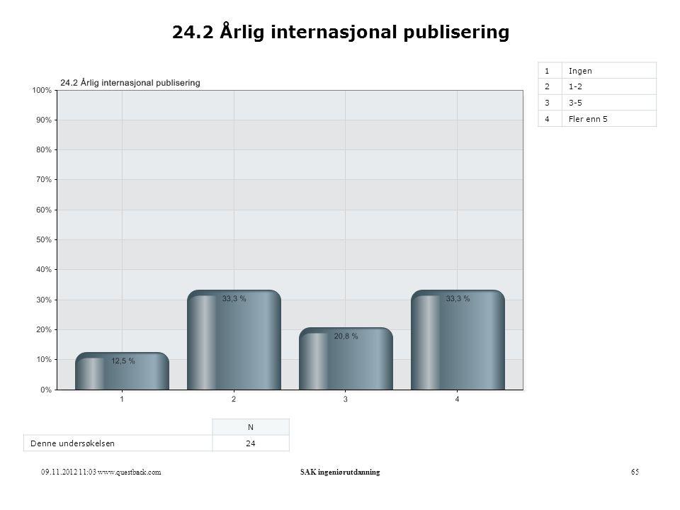24.2 Årlig internasjonal publisering