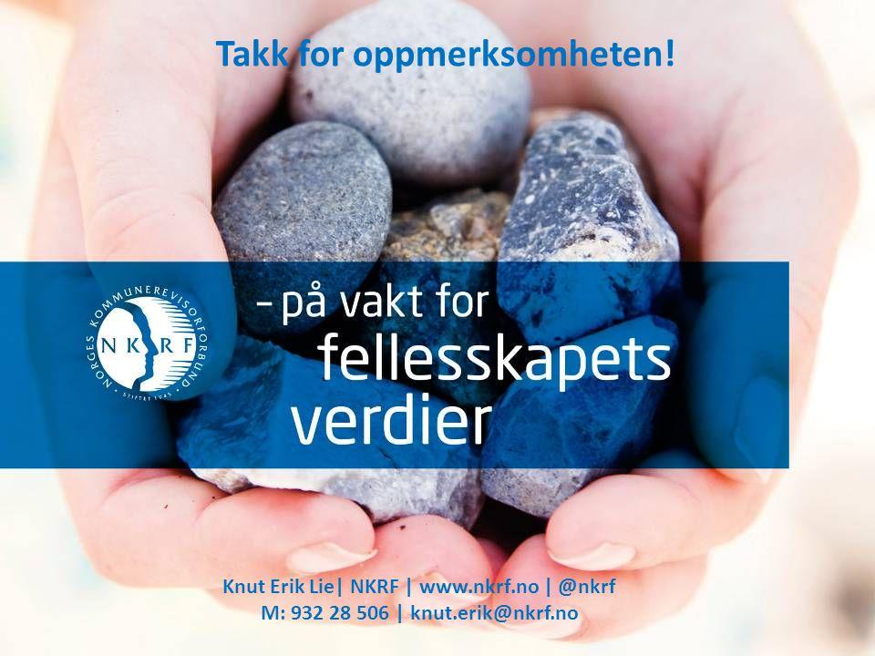 Takk for oppmerksomheten! Knut Erik Lie| NKRF | www.nkrf.no | @nkrf