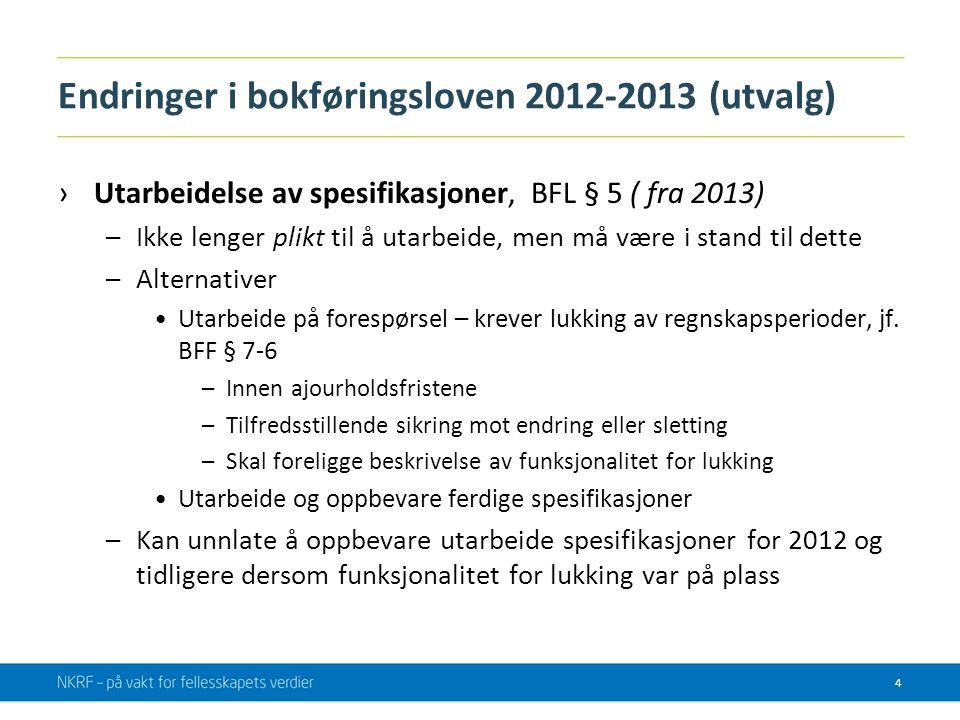Endringer i bokføringsloven 2012-2013 (utvalg)