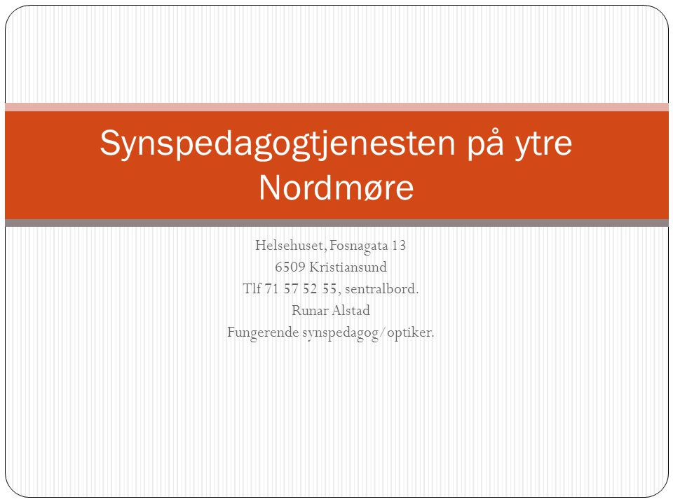 Synspedagogtjenesten på ytre Nordmøre