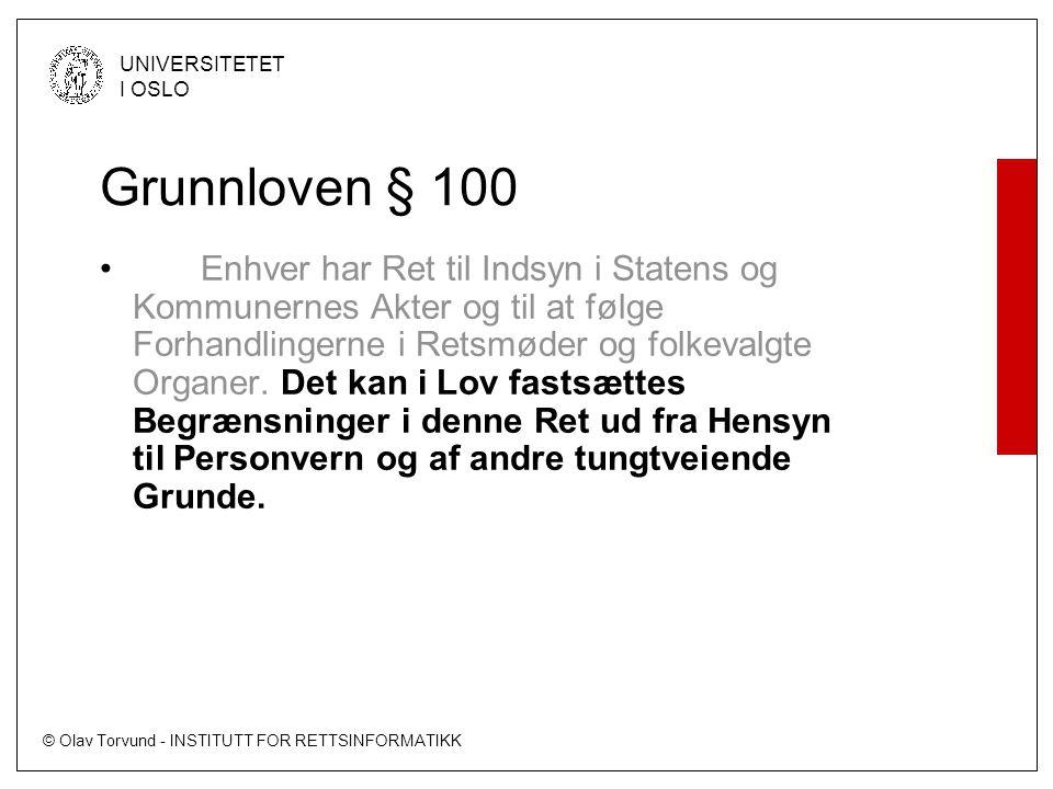 Grunnloven § 100