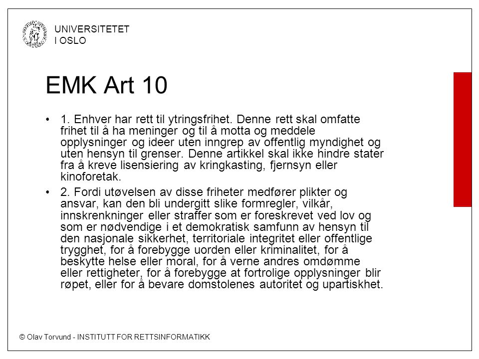 EMK Art 10