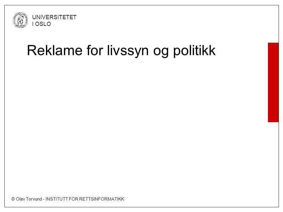 Reklame for livssyn og politikk