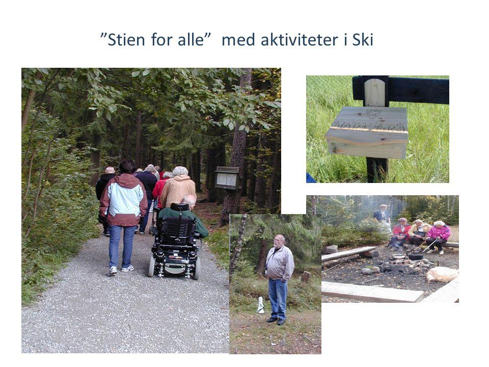 Stien for alle med aktiviteter i Ski