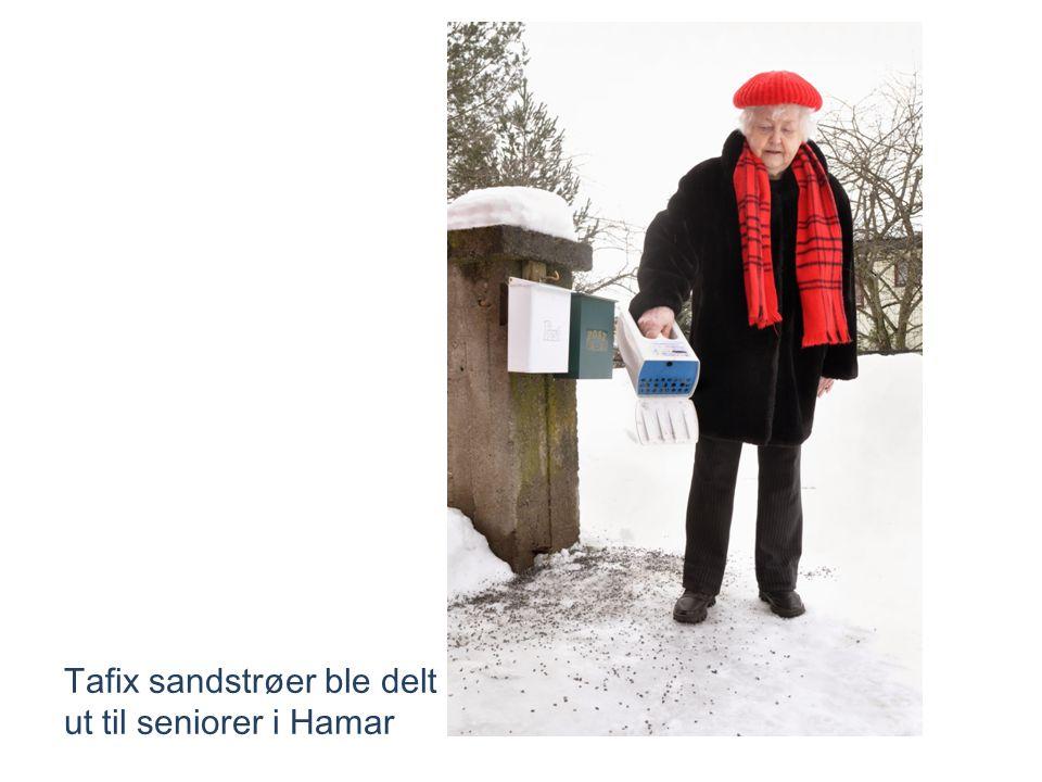 Tafix sandstrøer ble delt ut til seniorer i Hamar