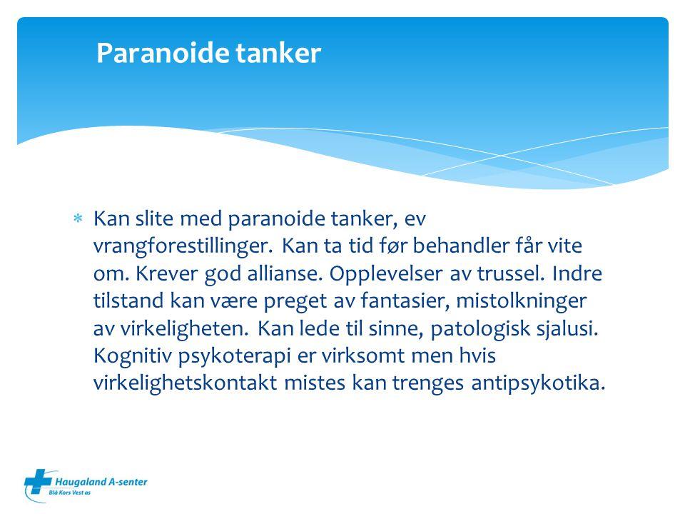 Paranoide tanker
