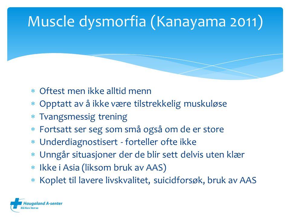 Muscle dysmorfia (Kanayama 2011)