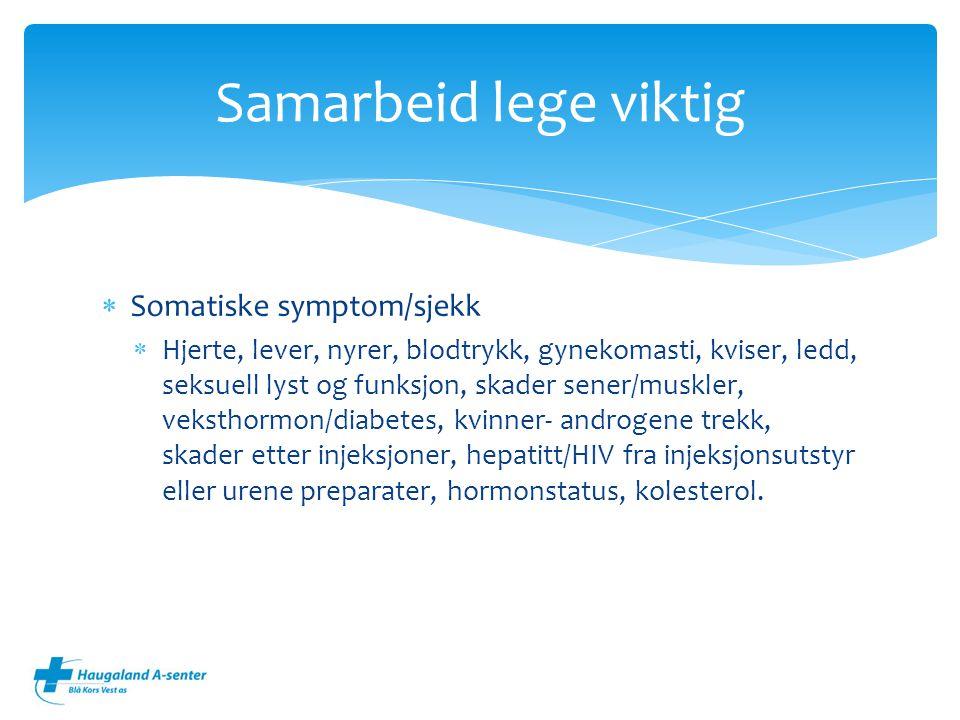 Samarbeid lege viktig Somatiske symptom/sjekk