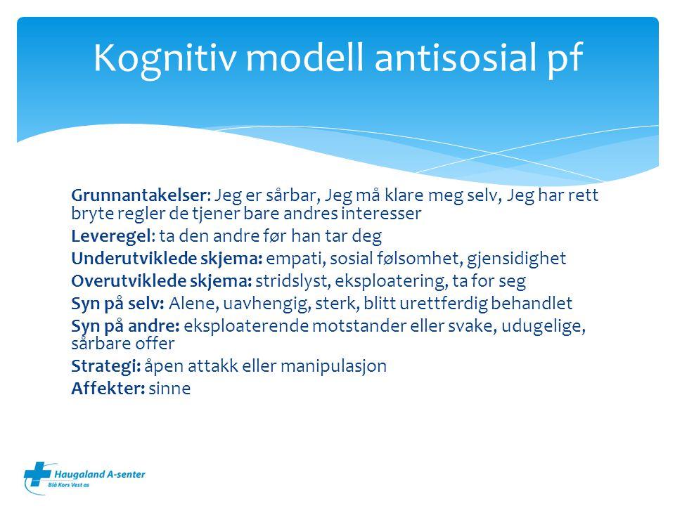 Kognitiv modell antisosial pf