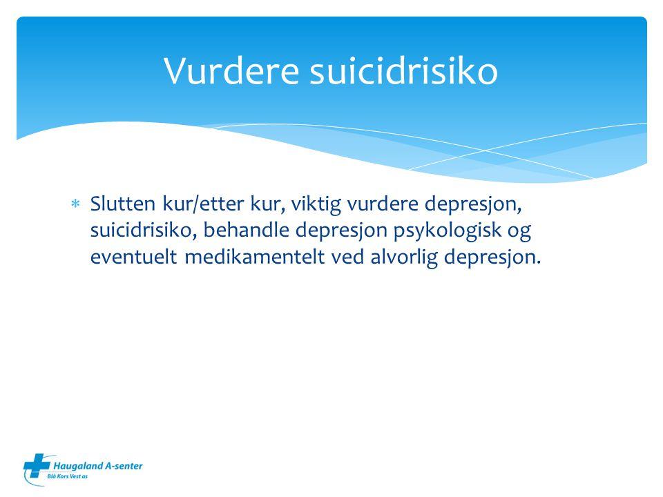 Vurdere suicidrisiko