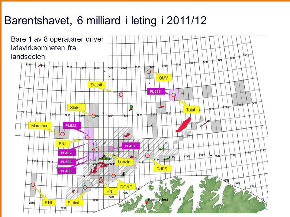 Barentshavet, 6 milliard i leting i 2011/12