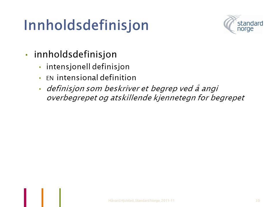 Innholdsdefinisjon innholdsdefinisjon intensjonell definisjon