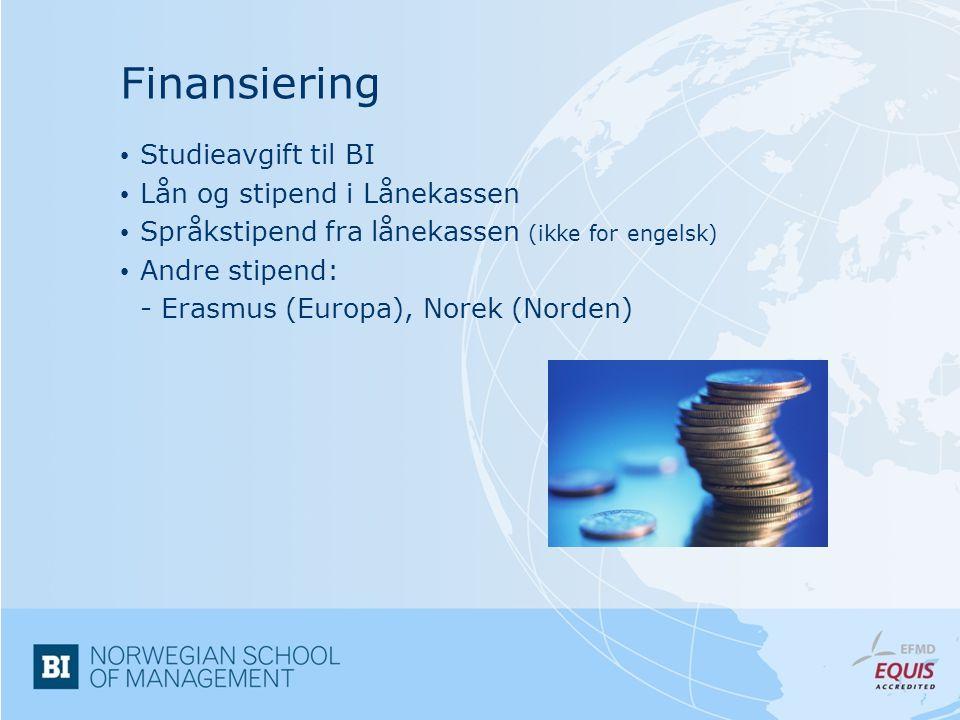 Finansiering Studieavgift til BI Lån og stipend i Lånekassen