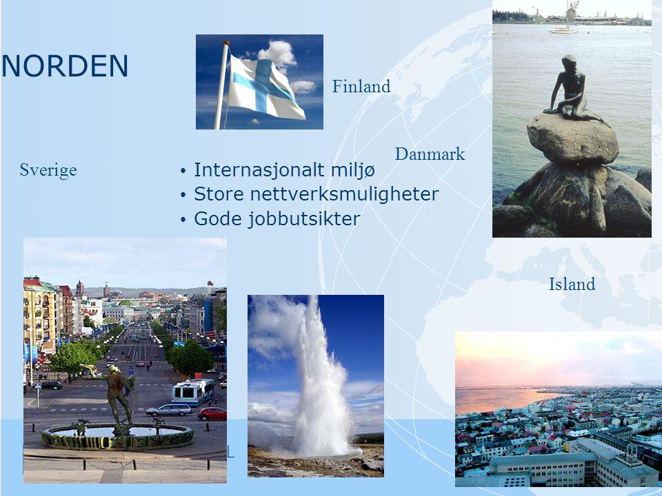NORDEN Finland Danmark Sverige Internasjonalt miljø