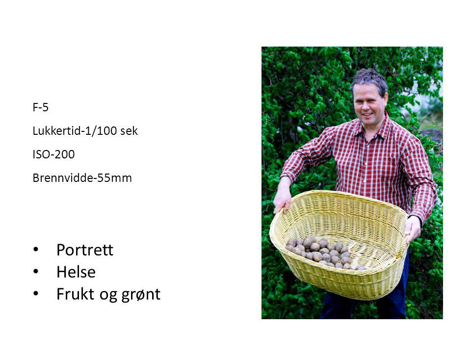 Portrett Helse Frukt og grønt F-5 Lukkertid-1/100 sek ISO-200
