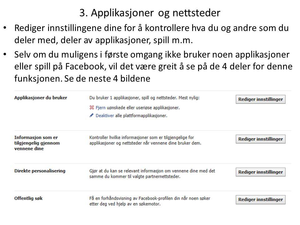3. Applikasjoner og nettsteder